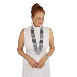 Polo Neck Sleeveless Top