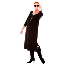 3/4 Sleeve Dress - Black - Thats Me by Margo Mott